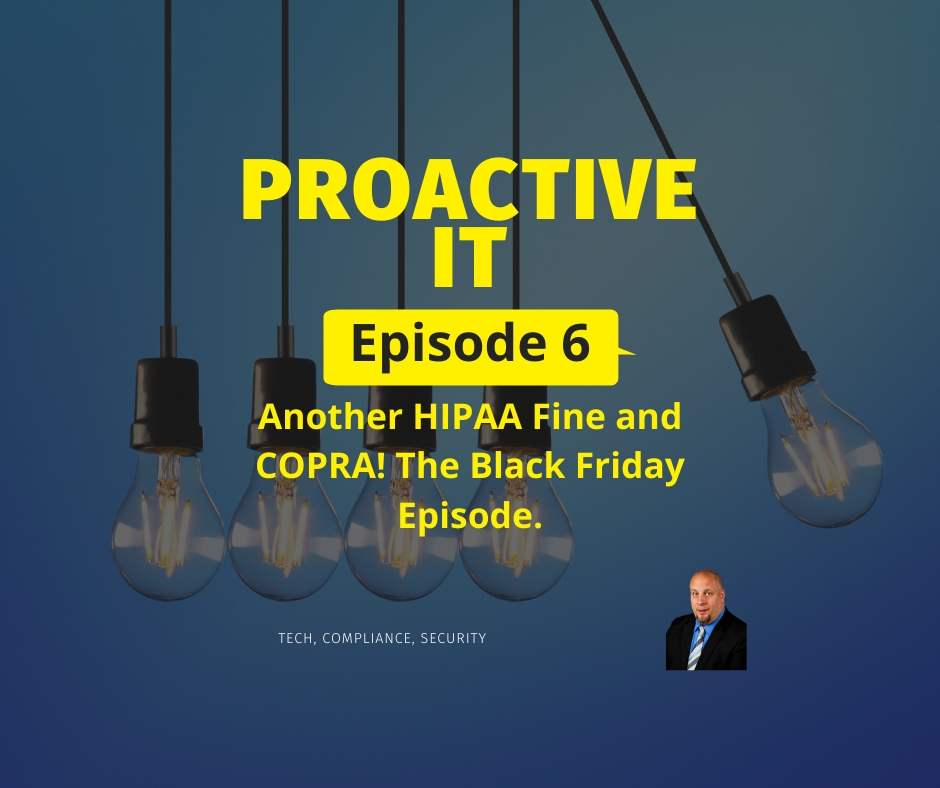 Episode 6 Another HIPAA fine and Copra FB