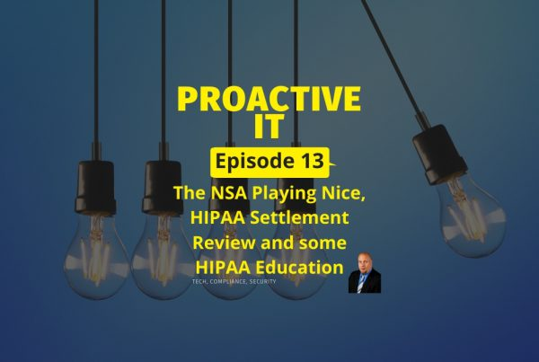 The NSA Playing Nice & a HIPAA Settlement Review FB