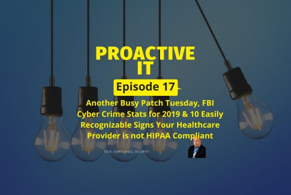 Episode 17 - 10 Easily Recognizable HIPAA Compliance Issues FB